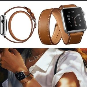 Accessories - Apple watch 3rd gen. genuine leather loop band.
